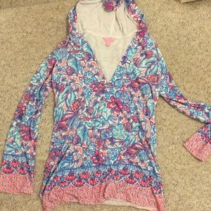 Lilly Pulitzer long sleeve coverup